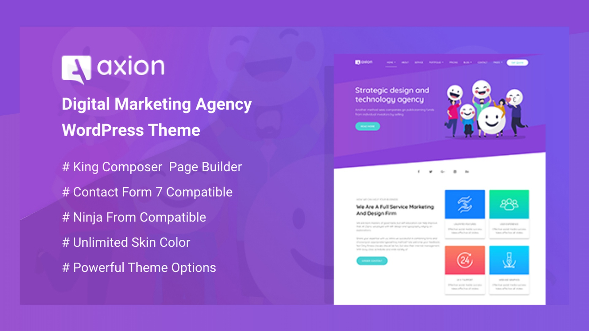 Introducing Axion: Digital Marketing Agency WordPress Theme